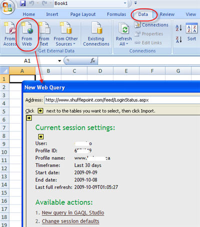 Launching access to ShufflePoint from within Excel 2007